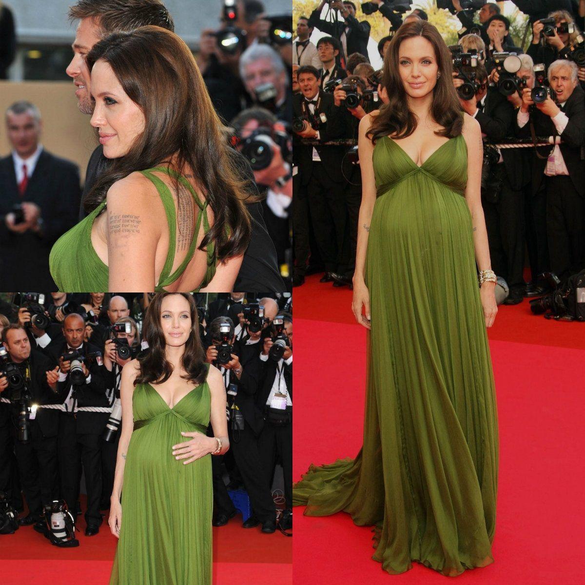 2015 elegant angelina jolie maternity evening dresses red carpet see larger image ombrellifo Choice Image