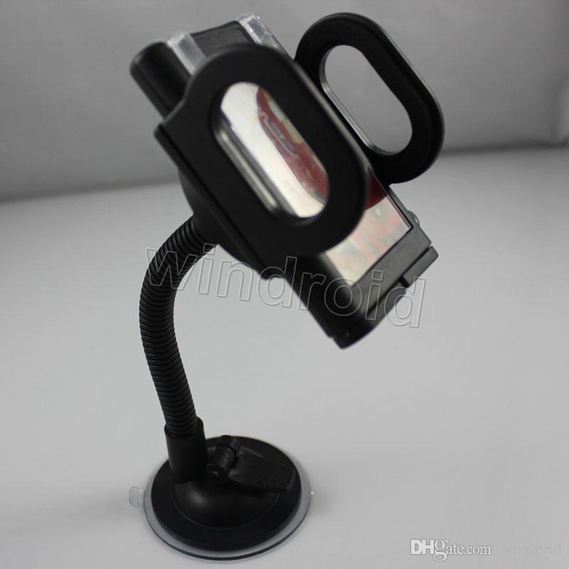 Universal-360-Grad-drehbare Saugnapf-Schwenker-Berg-Auto-Windschutzscheiben-Halter-Stand-Wiege für Handy / iPhone / iPad / PDA / MP3 / MP4 DHL