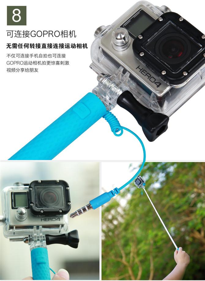 2018 Super Mini Pen Size Gift Wired Selfie Stick Foldable Extendable ...