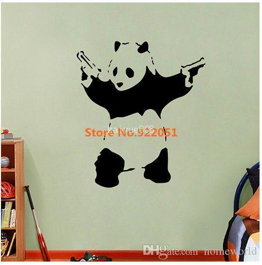 new removable vinyl wall stickers, banksy vinyl wall decal cartoon