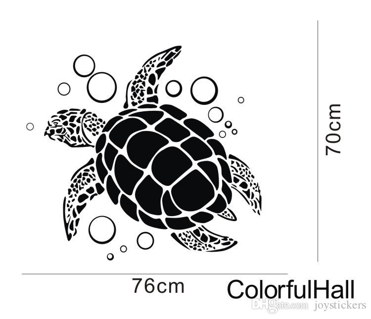 sea ocean animal wall sticker large turtle wall decals decoration for home family nursery
