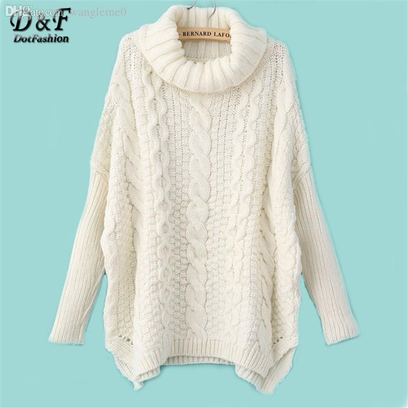 2018 2015 Autumn New Fashion Sweaters Women Casual White Long ...