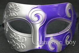Maschera maschere maschili Gladiatore romano Maschera veneziana di carnevale di Mezza faccia Mascherata di Halloween Maks