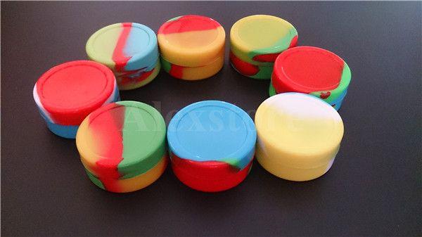55 * 28mm 22ml非粘着性のワックスの容器シリコーン箱シリコン容器Dabber FDA承認されたワックス瓶DAB貯蔵ゴムは濃縮油DHL