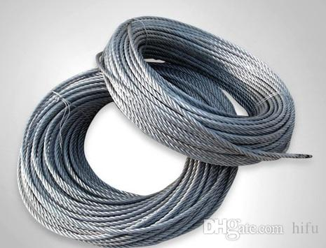 2018 6mm 6x12+7fc Galvanized Steel Wire Rope Wire Rope Steel Rope ...