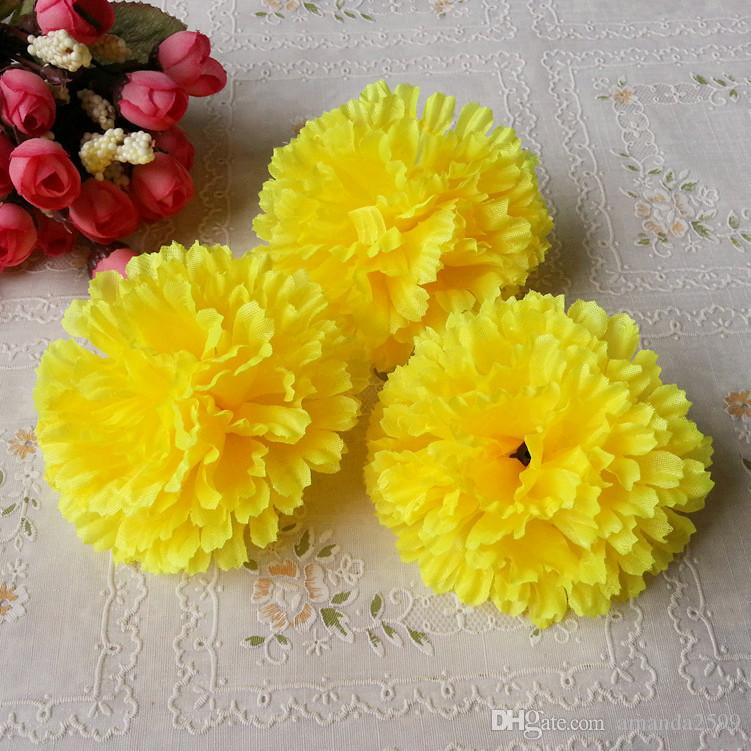 9cm available Artificial Silk Carnation Flower Heads Mother's Day DIY Jewelry Findings headware