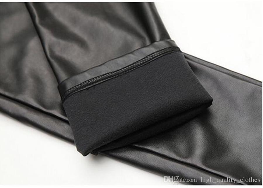 양 Qiu 동 한 판의 여가 유럽과 미국의 키 큰 허리 꽉 작은 가죽 바지의 새로운 패션. S - 2xl
