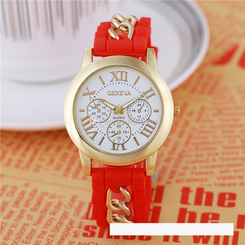 Numerosi orologi da polso Numeri Roma Ginevra in acciaio inox orologio in acciaio inox in silicone cinturino al quarzo orologi da donna in oro cristallo orologio da polso in oro