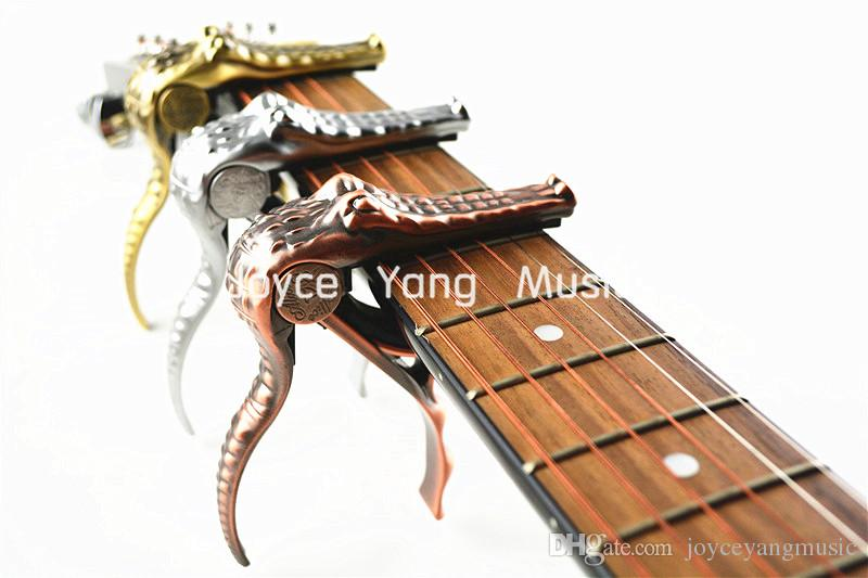 أليس A007G المعادن التمساح الغيتار كابو المشبك لالصوتية الغيتار الكهربائي ذهبية / فضية / برونزية شحن مجاني بالجملة