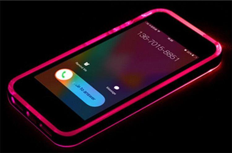 Regalo natalizio Chiamate ibride in arrivo lampeggianti Chiaro cover in TPU PC LED iPhone 6 6S plus 4.7 '' 5S Galaxy S6 note 4