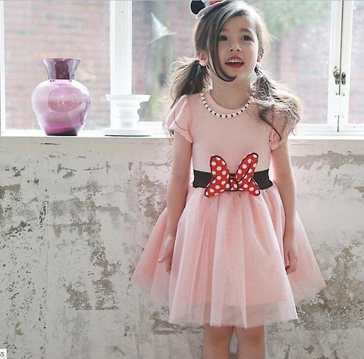 Compre Niños Del Vestido De Mickey Mouse Vestido De Tul Princesa ...