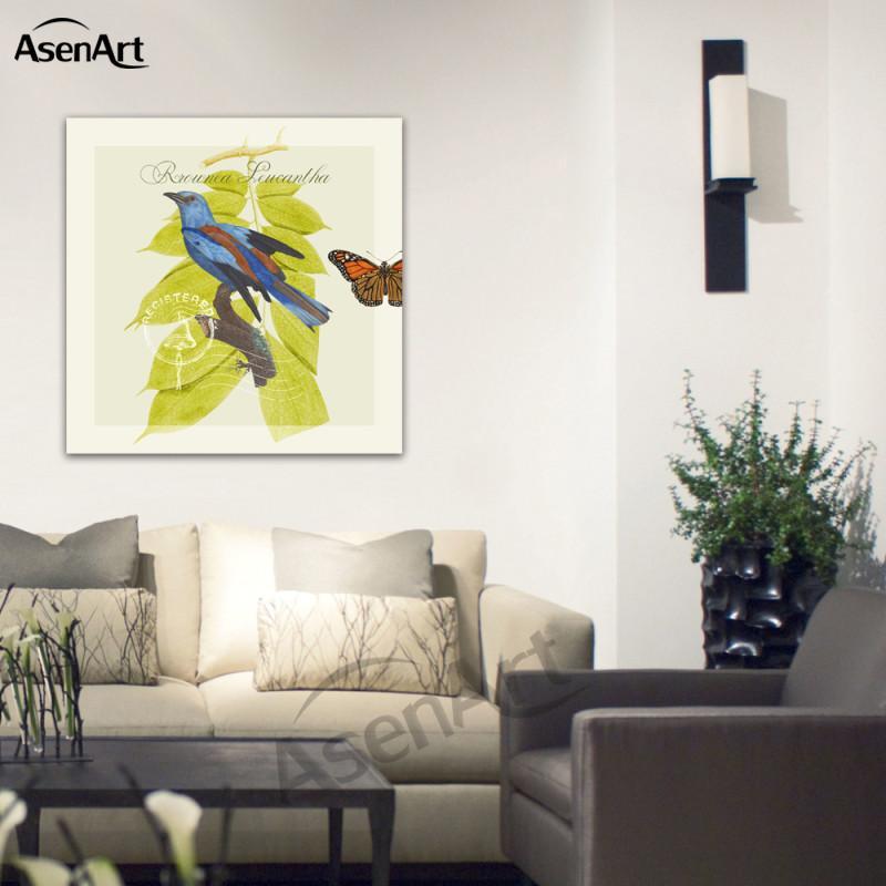 Großhandel Kunst Wand Europäischen Pastoralen Blume Und Vogel ...