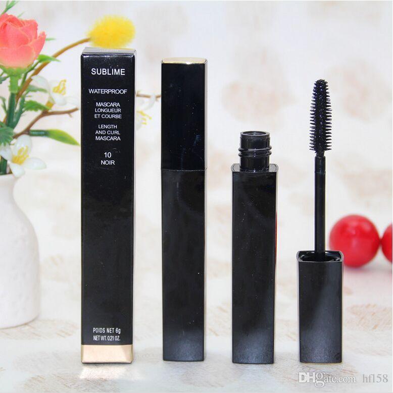Maquillaje profesional al por mayor y al por menor más reciente de alta quatliy marca de 6 g NEGRO rímel envío libre