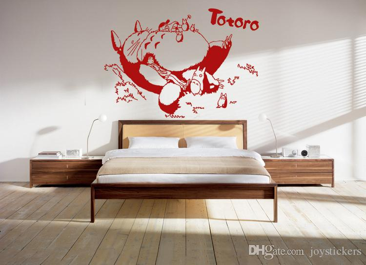 Anime Cartoon Sleeping Totoro Childrenu0027S Room Or Baby Nursery Children Wall  Paper Sticker Wall Sticker Decal Home Decor For Anime Fans Removable Wall  Decal ... Part 59