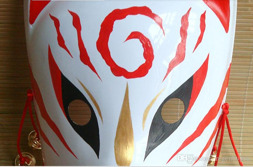 Hand- painted Fox Mask Endulge Japanese PVC Mask Full Face Halloween Masquerade Party Masks