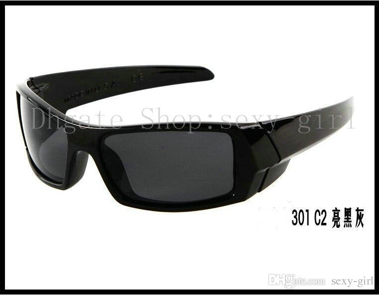Óculos de sol dos homens Moldura preta brilhante / óculos de lente de cor de arco-íris Moda estrela óculos de sol / óculos de sol não tem caso.
