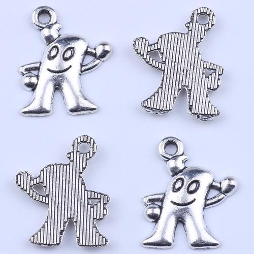 Nova moda de prata retro China expo mascote haibao pingente Fabricação DIY jóias pingente fit Colar ou Pulseiras charme 800 pçs / lote 2175c