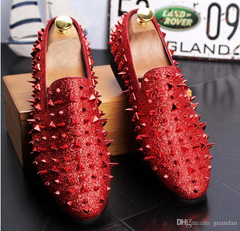 Man Punkt Zehe Kleid Schuh italienischen Designer Herren Kleid Schuhe goldenen echten Leder schwarz Luxus Hochzeit Schuhe niet Wohnungen Büro 2hn22