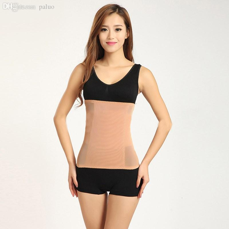c12effc801fcd 2019 Wholesale Plus Size S 3XL Women Waist Training Corsets Invisible Tummy  Trimmer Slimming Belt Cincher Body Shaper Trainer Shapewear From Paluo
