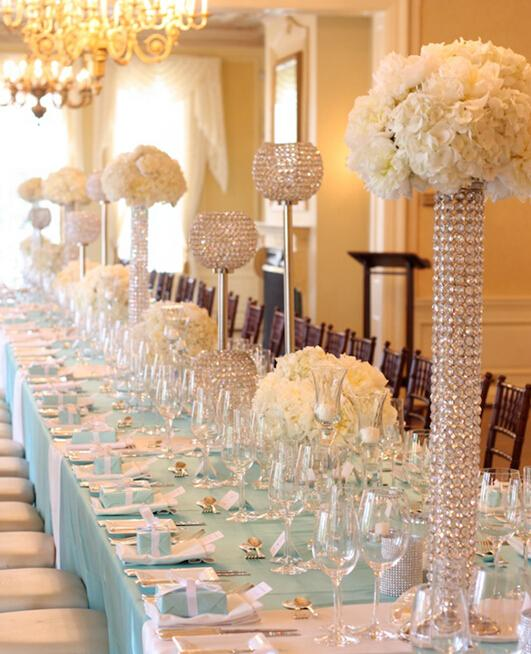 Vaso de flor de cristal, vaso de cristal para o casamento no revestimento da tira, vaso de cristal para