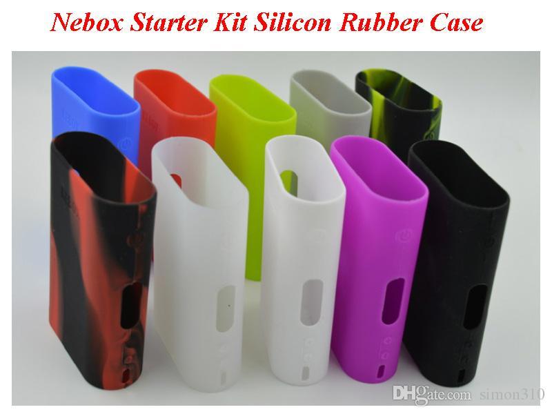 Nebox starter kit Silicone Caso Casos de Silicone Saco De Borracha de Manga Capa Protetora de Sílica Gel Pele para Kanger Nebox Kit