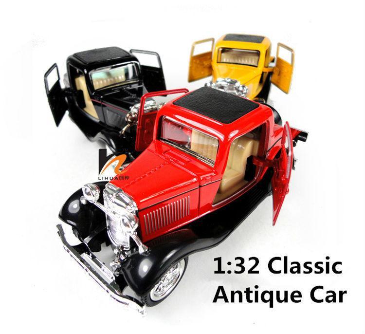 132 scale models classic car miniatures metal kids toys vintage car sale carro toy 2 doors model car