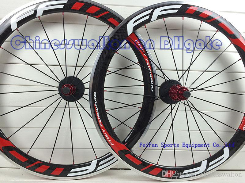 FFWD fast forward durable alloy brake surface F5R 50 full carbon road bike wheels wheelset bicycle wheel front rear wheels lightest R13 hubs