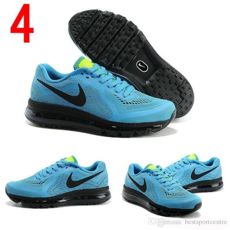 Compre Nike Air Max 2016 Mens Running Shoes 100% Dos Homens Originais Tênis Baratos Air Max 2014 Run Melhor Jogging Cheap Shoes Frete Grátis De