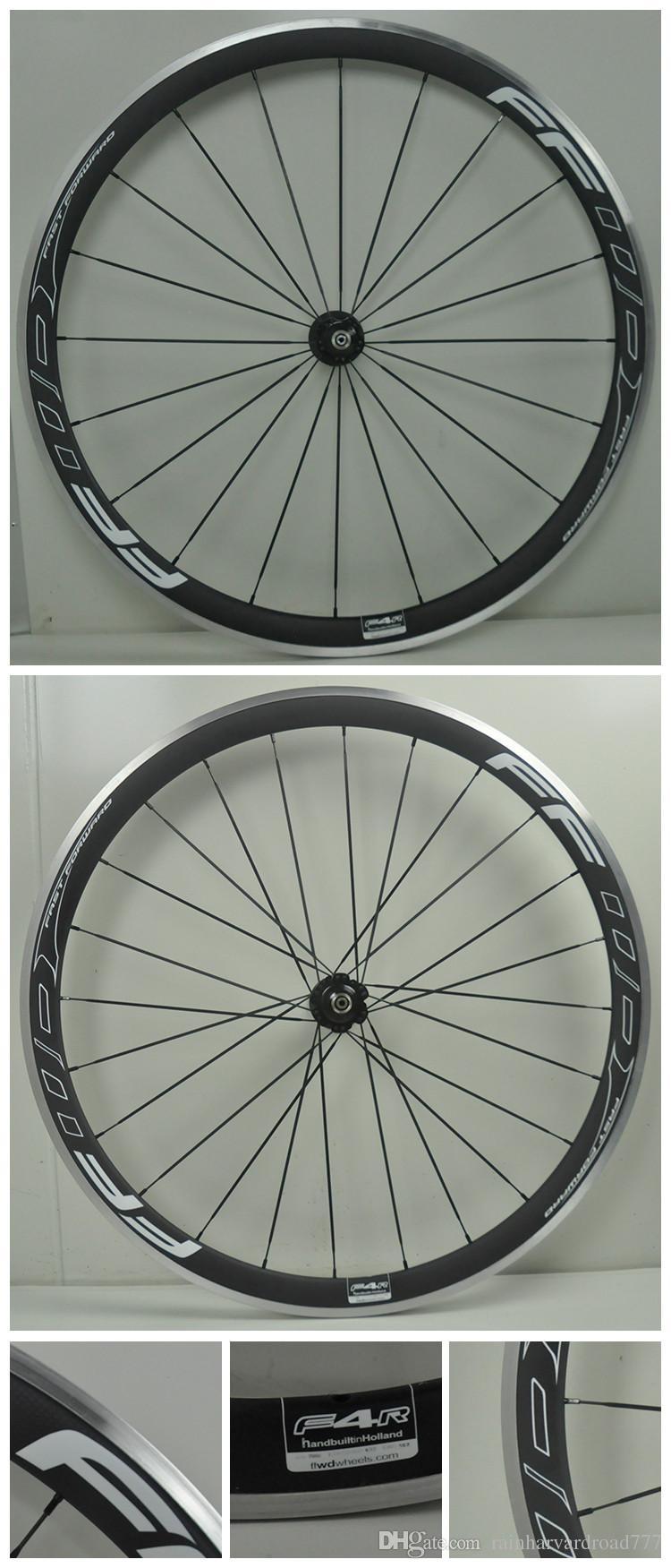 2016 stil Yol Bisikleti 38mm FFWD alaşım karbon fiber bisiklet tekerlek alaşım fren yüzeyi ile, Powerway Hub Karbon Hub Seramik Hub mevcuttur