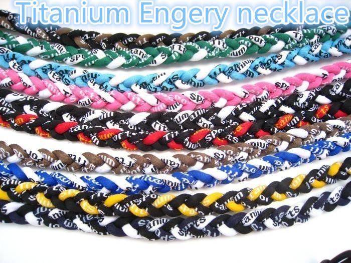 Mix Color Sport Naszyjnik Energia Titanium Germanium 3 liny Brain Tornado Baseball Softball Sportowcy Necklacene91
