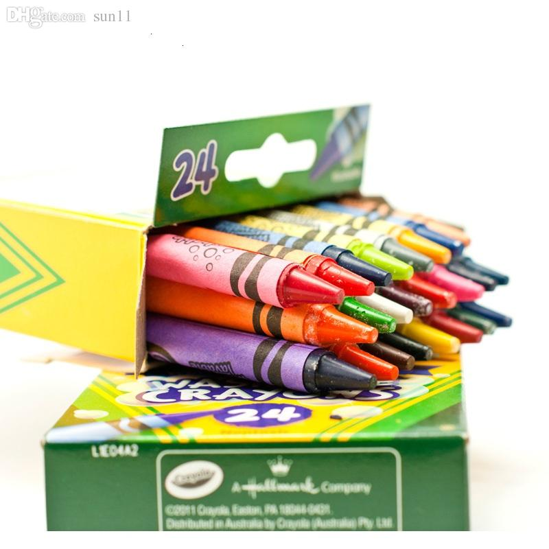 new crayola 24 color fashion gifts for children children gifts washable crayons free shipping