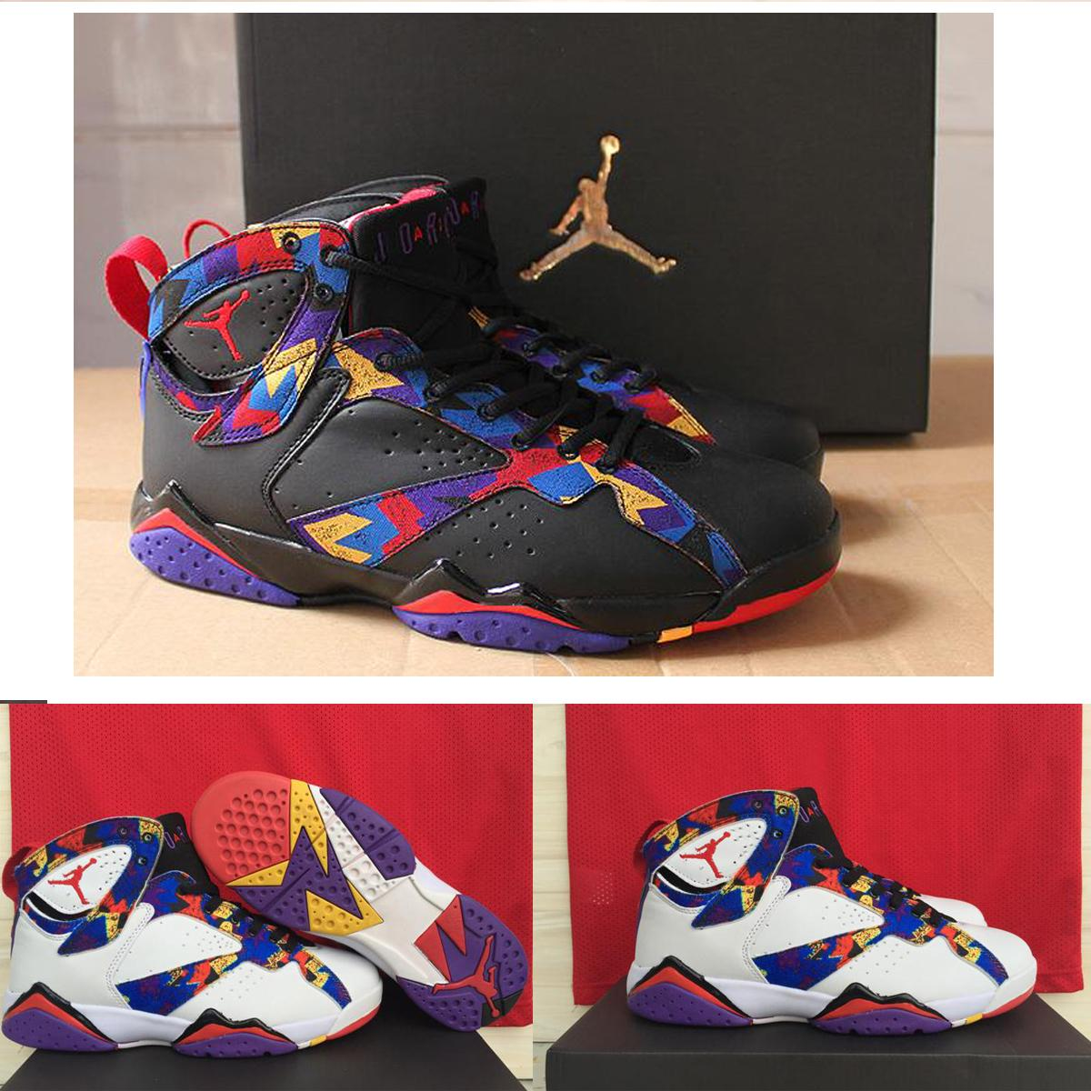 Nike Air Jordan 7 Olympic Retro Mens Basketball Shoes ,Wholesale Cheap  Original Basketball Sneakers Shoes ,Jordan Shoes,Black White Cheap Shoes 4e  ...