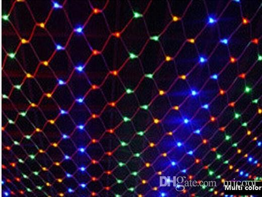 cheap 6m 4m 768led net lamp lights flash lamps waterproof nets wedding background decorative curtains lights christmas lights ac 110v 250v patio string - Christmas Lights Net