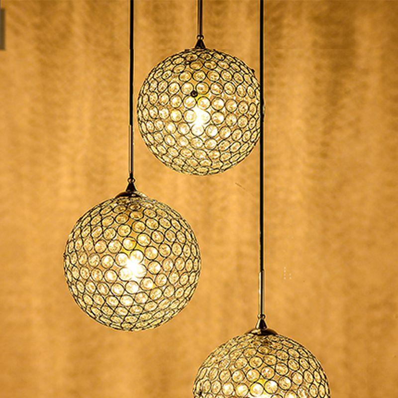Hot Chandeliers Cheap E27 E14 LED Pendant Lamps Competitive Electroplating Crystal LED Pendant Lamps Fit for Foyer 110V 220V Voltage sj-011