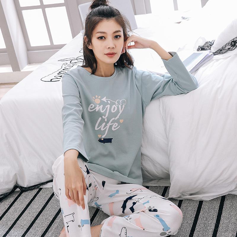 4fbc10e201ec Plus Size Cute Animal Pajama Set Women Pajamas Cotton Womens Winter  Sleepwear Home Clothes Pigiami Donna Invernali Pijama Canada 2019 From  Chenhanyang