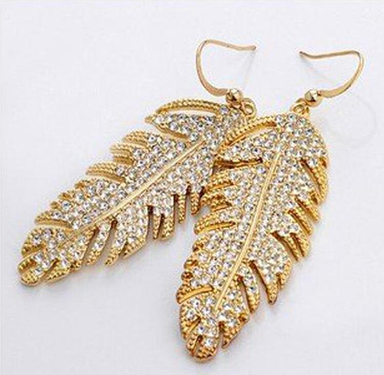 Wings of love Necklace Earrings Sets South Korean Bohemia fashion women Jewelry Sets leaves Jewelry For Women 4138
