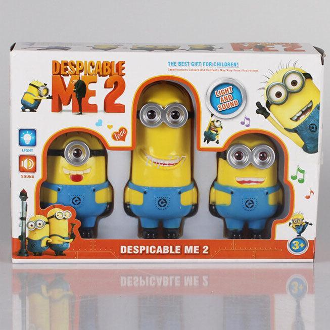 christmas gift despicable me 2 minion toys pvc with music sounds talking figure and light jorge stewart dave minion toys action figures minions kids toys