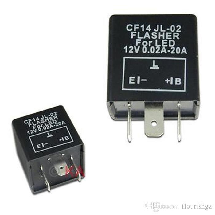 CF14 JL-02 LED Flasher 3 Pin Electronic Relay Module Fix Auto Motor LED SMD Turn Signal Light Error Flashing Blinker 12V 0.02A TO 20A