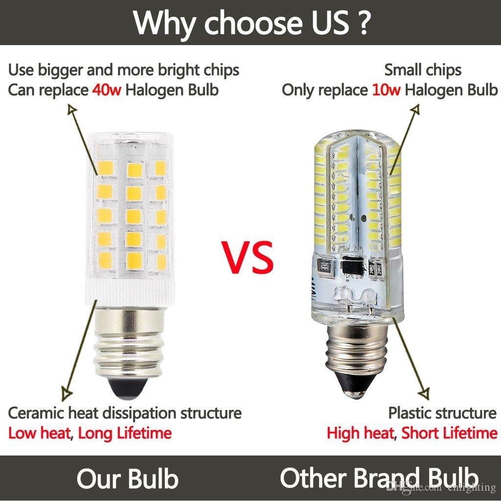 Best 5w T3 E12 Candelabra Base Led Bulbs,40 Watt Incandescent Bulb ...