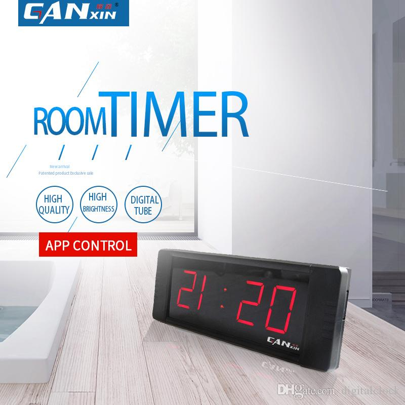 [Ganxin]HOT Sell Cheaper Led Digital Clock with Timer Count down /up 1inch 7 segment Red mini Indoor display Wall Clock Wireless Remote