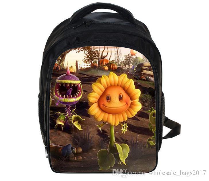 유치원 아이들 배낭 만화 식물 vs Zombies 학교 가방 학생 책 가방 배낭 소년 소녀 배낭 여행 가방