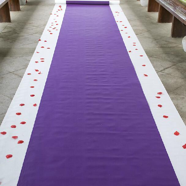 New Arrival Wedding Favors Purple Nonwoven Fabric Carpet Aisle