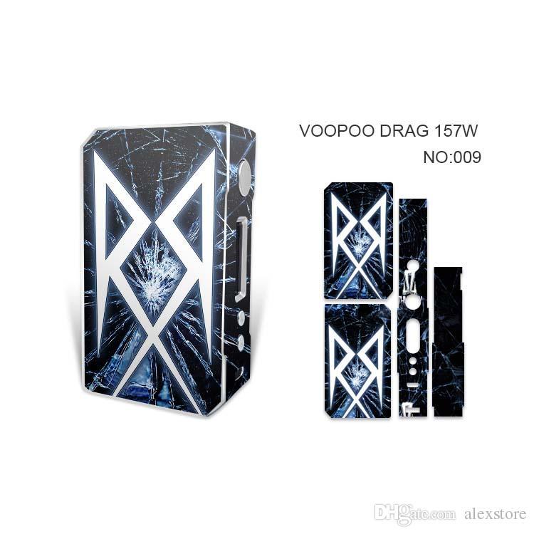 VOOPOO DRAG 157W Skin Wraps Aufkleber Cases Cover für DRAG 157 W TC Box Mod Vape Schutzfolie Aufkleber Mit Mode 14 Muster