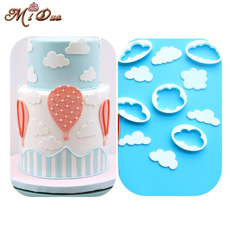 Wholesale- New Cloud Plastic Cake/Cookie/Biscuits Cutter Mold Sugarcraft Cake Decorating Fondant Icing Cutters Cake Decoration Mould