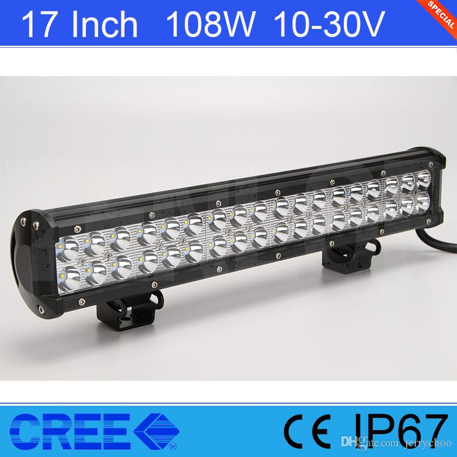 Hot sale 17 inch cree 108w led light bar for offroad 44 suv jeep hot sale 17 inch cree 108w led light bar for offroad 44 suv jeep atv tractor 108w led work light 17 inch led work light online with 610piece on mozeypictures Choice Image