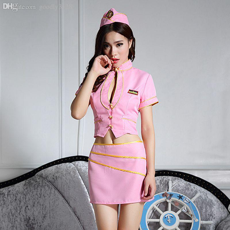 2019 Wholesale Sexy Flight Attendant Costume Cosplay Costume