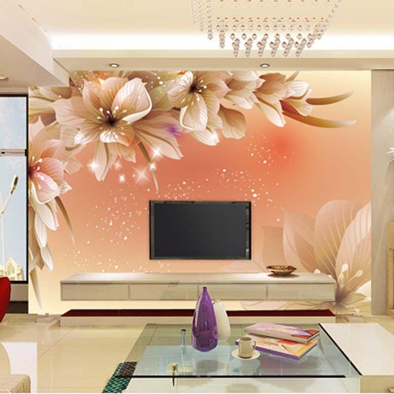 Gro handel benutzerdefinierte luxus tapete elegante blumen for Elegante wandbilder