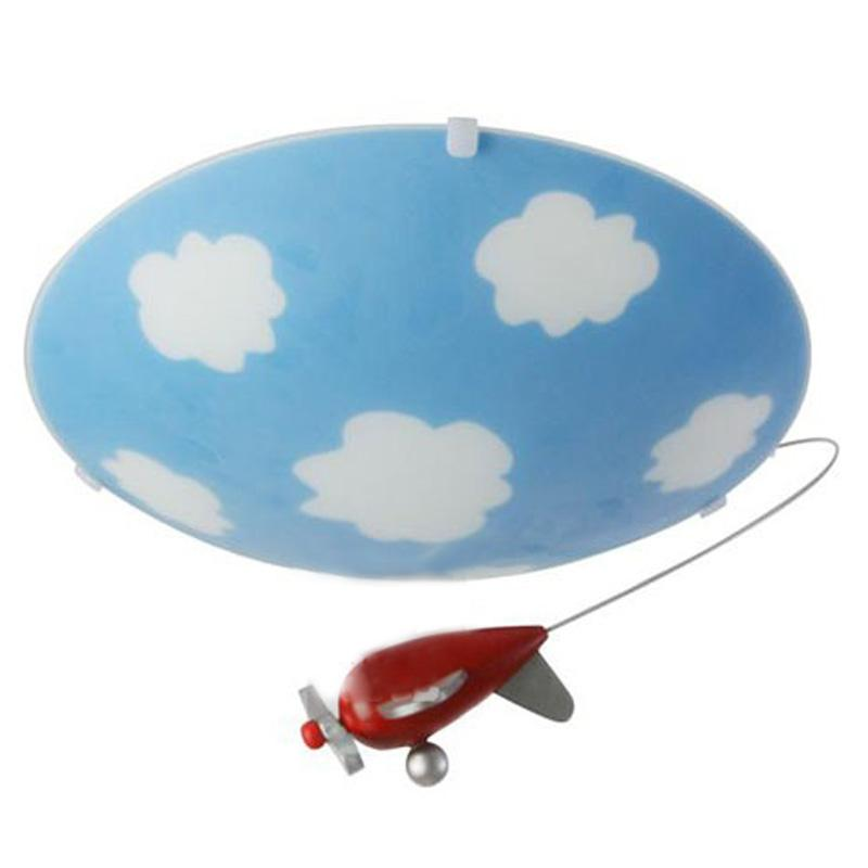 2017 Cute Baby Room Glass Ceiling Lamps Cartoon Sky Children\'S ...