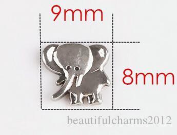 20 قطع الفضة الحيوان الفيل العائمة المدلاة سحر صالح للزجاج المعيشة المغناطيسي المنجد هدية للأصدقاء
