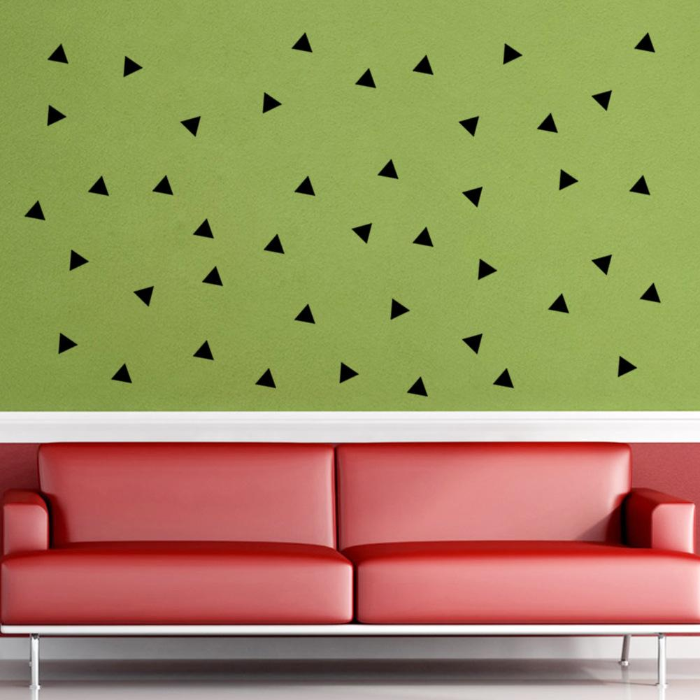 Black Triangle Wall Art Mural Decor Sticker Living Room Bedroom